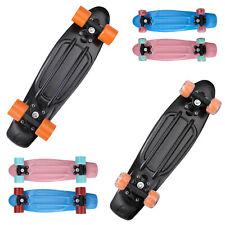 Skateboard Funboard Miniboard Penny Board Cruiser LED 22? Retro ABEC 7 Rollen