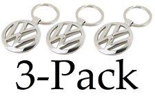 Volkswagen Metal Logo Keychain (PACK OF 3) - VW Jetta Passat Beetle GTI Rabbit
