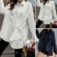 ZANZEA 10-24 Women Long Sleeve Blouse Top Tee Oversized Tunic Button Up Shirt
