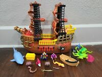 Fisher PrIce Imaginext Adventures Pirate Ship with Figures And Accessories