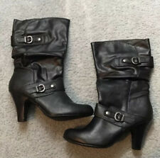 Style & Co. Black Heeled Boots - Women's Size 9.5