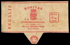 Philippines ROSITAS REGALIZ Cigarette Label