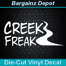 Vinyl Decal.. CREEK FREAK.. Kayak Canoe River Paddler Laptop Car Sticker Decal