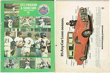 1973 NY METS VS YANKEES PROGRAM WITH BOWIE KUHN AUTO ON COVER AND INSIDE RARE