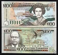 EAST CARIBBEAN STATES ANGUILLA 100 DOLLARS P35U 1994 UNC QUEEN TURTLE RARE NOTE