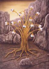 Jannys ART  - Golden Tree  70 x 100 cm Kunst Malerei handgemalt Airbrush Gemälde