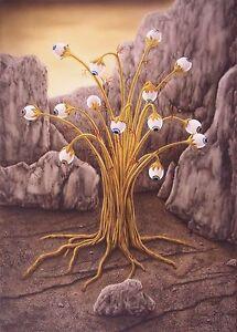Airbrush Gemälde Kunst groß Golden Tree Jannys ART Malerei handgemalt