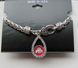 From The Heart  Ohio State Buckeyes CRYSTAL TEAR bracelet 7.5 Inch  Brand New