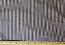 """Brown/Beige Tissue Taffeta Stripes 100% Silk Fabric 44"""" Wide, By Yard (SD-696B)"""