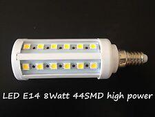 LED Lampada a risparmio energetico lampadina Faretto E14 8W 44 SMD bianco caldo