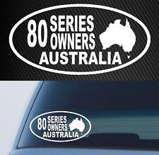 for TOYOTA LANDCRUISER 80 series STICKER owner DECAL 4x4 200mm