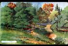 VILLENEUVE-L'ETANG (92) BARQUE au PONT DE PIERRES illustrée par A. DUBRAY