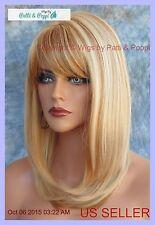 HUMAN HAIR BLEND HEAT FRIENDLY WIG BLONDE F27.613 SEXY FOXY STYLE USA SELLER 185