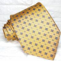 Luxury neck tie silk dark yellow Jacquard TRE brand Italy business / bridal £ 40