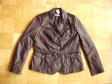 @ BONITA @ leichte Jacke dunkelbraun glänzend Gr. 36/38 Size S/M