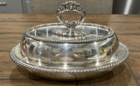 """1880-1885 GORHAM Electroplated Silver COVERED DISH Removable Handle 6.5X10.75"""""""
