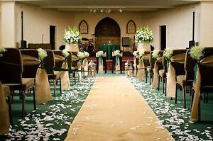 "40"" Wide Jute Hessian Burlap, Decorative Wedding Isle Runner, Natural"