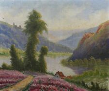 Jules SIVRY (XIX-XX) Paysage Huile sur toile Eugène Deshayes montagne crozant ?