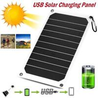 10W 5V Portable Solar Panel USB Battery Charger Power Bank for Mobile Phone