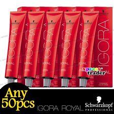 Any 50pcs Schwarzkopf IGORA ROYAL Permanent Colour Hair Dye Golds Series 60ml