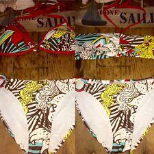 Padded Lot Push C D Red Tropical String Bikini White Swimsuit Lot Set L