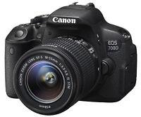 Canon EOS Rebel 700D / T5i DSLR Camera W/ EF-S 18-55mm Lens!! BRAND NEW!!