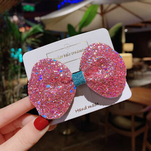 Colorful Bow Duckbill Clip Hairpin for Girls Sequin Hair Clip Hair Accessories