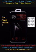 iPhone 7 Screen protector 100% Genuine Tempered Glass Protection Screen 1 Pack