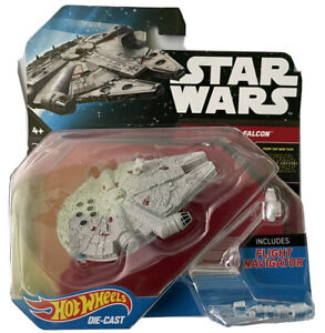 Hot Wheels Star Wars Millennium Falcon. BNIB Sealed. Starship + Flight Navigator