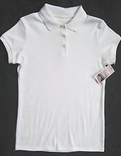 Girl Lg 12-14: TWO NWT ~CHAPS~ APPROVED SCHOOLWEAR WH UNIFORM POLO-STYLE SHIRTS