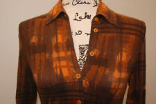 Womens TRANSITTop Blouse tshort buttons  Size 2