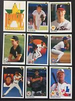 1990 UPPER DECK Baseball Cards.  Pick Up To 35 Cards to Complete Your Set.