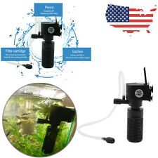 3W 3 in 1 Mini Fish Tank Filter Aquarium Oxygen Submersible Clean Water Purifier