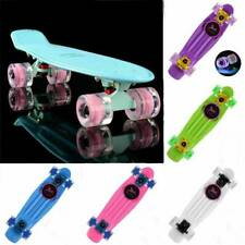 "22"" Macarons color Fashion Flash Wheel Plastic Complete Fish Cruiser Skateboard"