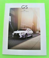 2018 LEXUS GS SPORT SEDAN DLX COLOR CATALOG Brochure 44-pg GS 300 + GS 350 Mint