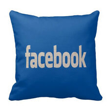 "FACEBOOK Cotton/Linen 18"" X 18"" PILLOW COVER, DECOR - FAST SHIPPING FROM USA"