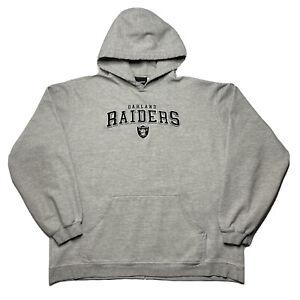 VIntage Reebok NFL Oakland Raiders Sweatshirt Hoodie Mens Large Embroidered Logo