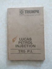 Original Lucas petrol injection system for TR5 PI service training booklet