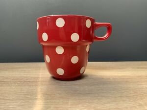 Marks & Spencer  Stacking Mug - Spotted Red / White