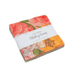 "Moda Charm pack Blushing Peonies by Robin Pickens 42 - 5"" cotton squares 48610PP"