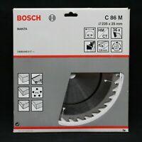 Bosch C86M 235mm x 25mm 36T Sega Circolare TCT Lama Legno, Tavola, Pvc. Fatto IN