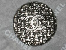 CHANEL  CC LOGO 1  SILVER METAL BUTTONS  26  MM/  OVER 1''  NEW