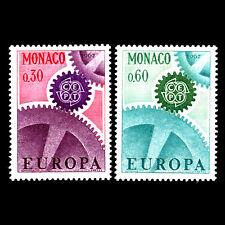 Monaco 1967 - Europa Francobolli - Sc 669/70 Nuovo senza Linguella