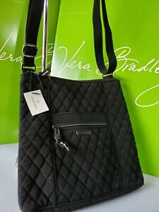 NWT Vera Bradley in CLASSIC BLACK HIPSTER Crossbody Bag