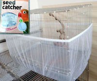 Seed Catcher Guard Mesh Pet Shell Skirt Traps Cage Basket Bird Cage Cover Home