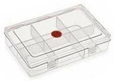 NAKODA 3 Partition (6 Container) Plastic Multi-purpose Storage Box (No 222)