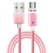 Magnet USB Type-C Lade Kabel Daten Sync rosa für Samsung Galaxy S8 LG G5 HTC 10