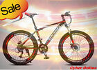 Brand New Cyber Black&Red 27.5 inch 21 Gears Shimano Mountain bike,DISC+Bonus