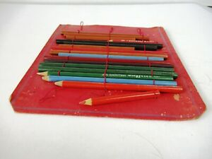 "Vintage Pencils in Original Case Made In Germany Mix Brand Writing Collectib""F26"