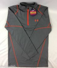 Under Armour MEN'S Cold Gear Infrared Long Sleeve 1/4 Zip Shirt Fitted Gray M